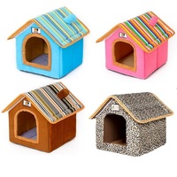 Unique Factory Portable Small Cheap Folding Felt Wholesale Soft Big Home Luxury Indoor Large Cat Pet Dog House