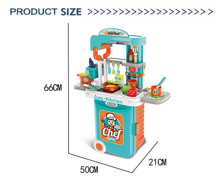 Pretend play learning kitchen play game set cooking educational little chef toy