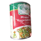 Canned mix vegetables for green peas and sweet corn