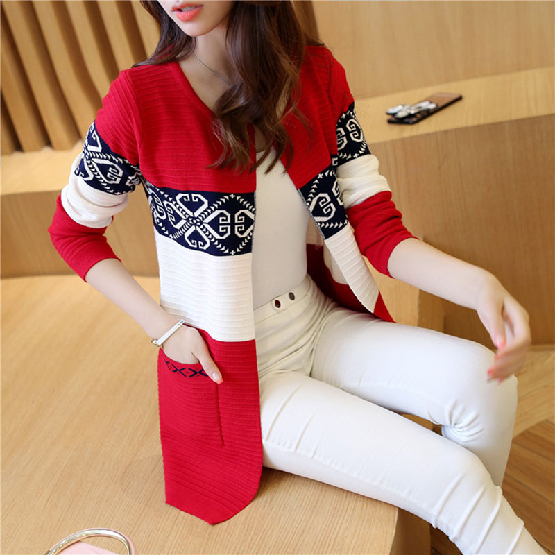 Cardigan Sweaters Women Knitted Coat Women's Sweater Top Feminine Clothes Long Sleeve Warm Jacket Korean Style Autumn Winter
