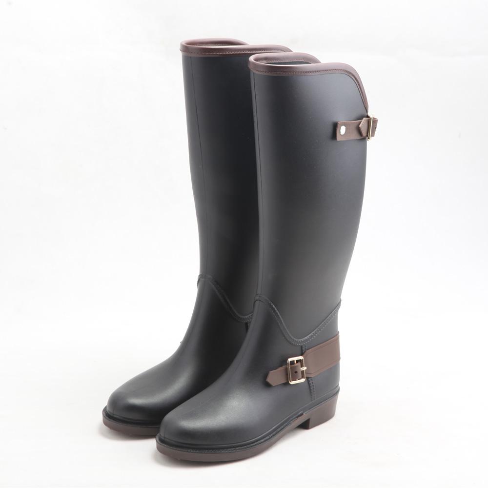 Qinghong/Модная женская обувь для верховой езды; стильная обувь для дождливой погоды; женские высокие сапоги; резиновые сапоги от производителя