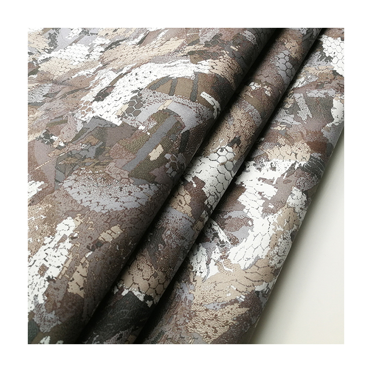 100% polyester Suede camo printed DW TPU 3000/3000 hunting fabric