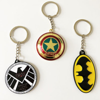 promotional gifts high quality cheapest Captain America metal marvel keychains with rotating style