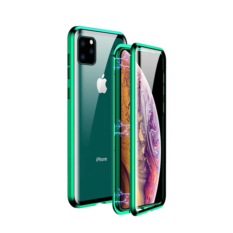 Ultra thin for iphone 11 tempered glass phone case,for iphone 11 plus case covers,mobile phone shell for iphone 11 magnetic case