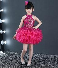 Роскошное дизайнерское свадебное платье знаменитости, вечернее многослойное платье, изысканные радужные пышные платья для девочек, блестя...(Китай)