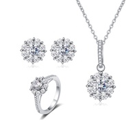 2020  high quality jewelry Popular 925 sterling silver micro pave collection jewelry sets