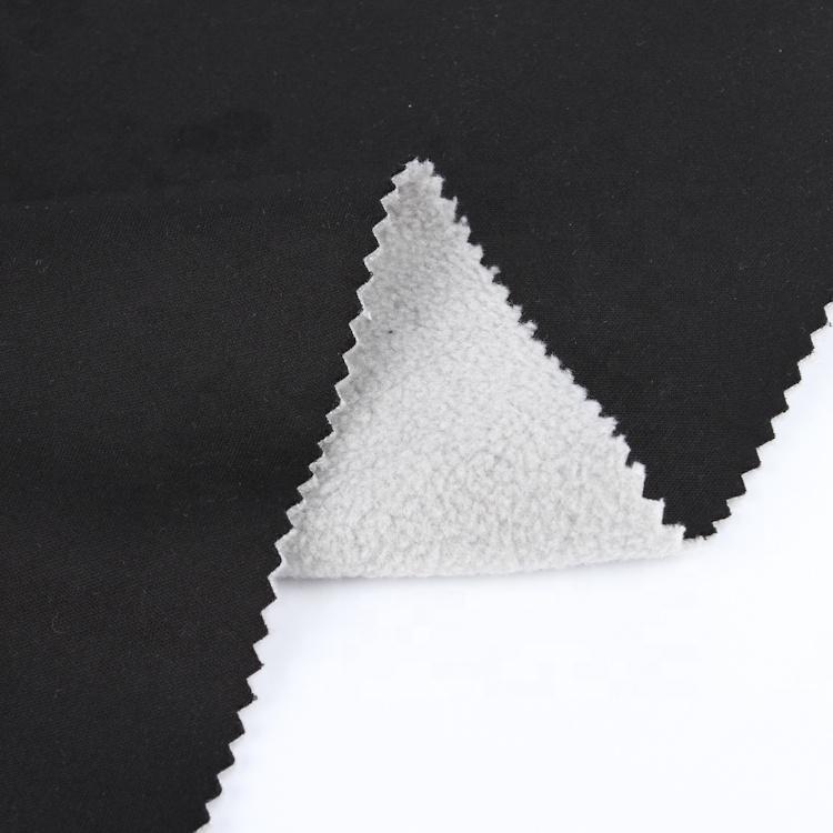 Interlock bonded fabric micro fleece bonded 96% polyester 4%spandex fabric