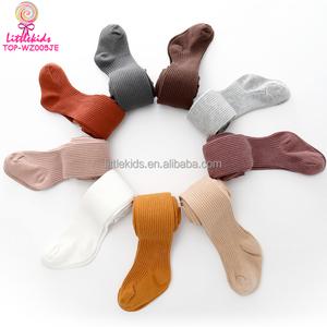 Winter Hosiery Pantyhose Baby Legging Children Socks Tights Cotton Girls Ribbed Kids Tights