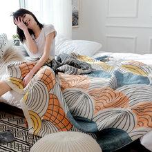 Бамбуковое газовое постельное одеяло, офисное спальное одеяло покрывало для младенцев, одеяло для патио, кресло для гостиной(Китай)
