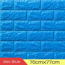 Обои 3D кирпич шаблон PE пена настенный Декор водонепроницаемый гостиной спальни настенное покрытие самоклеющиеся 70x77 см настенные наклейки(Китай)