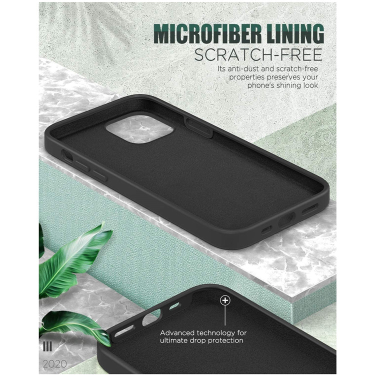 MoKo Anti-scratch Shockproof Slim Fit Liquid Silicone Protective Cover for iPhone 12 Mini Case 5.4 Inch 2020