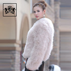 cheap price high quality winter long sleeve warm coat soft turkey fur coats for ladies