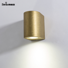 Savia Moderne Waterdichte IP44 Gu10 outdoor wandlampen Up en Downlight <span class=keywords><strong>Messing</strong></span> Aluminium LED Outdoor Garden Wall Light