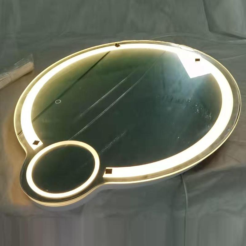 조명 기능 및 사각형 거울 모양 직사각형 LED 거울 & 홈 욕실