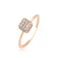 16212 Best big diamond zircon 18k gold finger rings, wholesale latest gold Jiugongge Magic Shape designs for women
