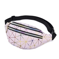 Holographic Waist Bags Women Pink Silver Fanny Pack Female Belt Bag Laser Chest Phone Pouch