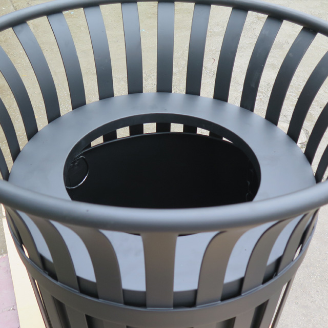 Outdoor Street Metal Steel Round Recycle Trash Bin Garbage Waste bin Container