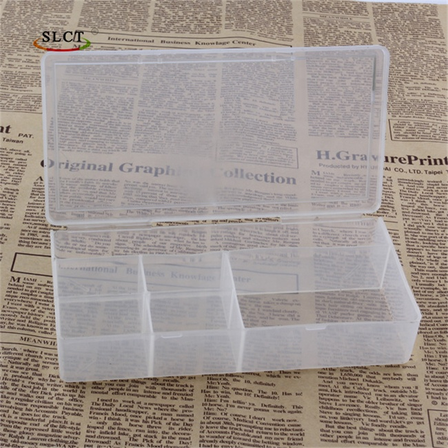 Clear Custom PP 8 Compartments Pill Jewelry Gift Plastic Storage Box