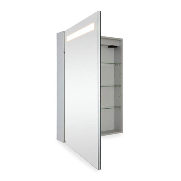 Cost Effective Double-Side Mirror Door Bathroom Mirror Light Cabinet