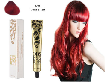 bright red unique Hair Dye Professional Salon use 80ML 55Colors permanent hair dye quick and easy