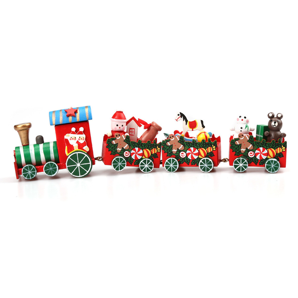 Hot sell crafts Mini Wooden Train Sets Christmas Decoration Kids Toy Train Home Decoration