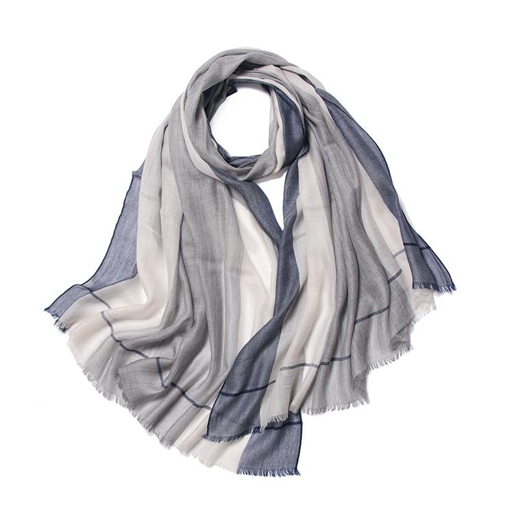 Filles Léger en mousseline de soie châle Coloré deux tons couleur pashmina écharpe