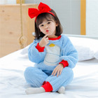SE5751 Wholesale Printed Kids Soft Flannel Pajamas Children Girls Warm Winter Sleepwear Sets