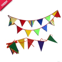 China Factory Selling Small Moq Custom Design Pe Pennant String Flags Bunting