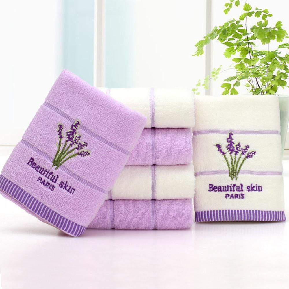 34x74 см Мягкое хлопковое полотенце лаванды с вышивкой для супер рынка