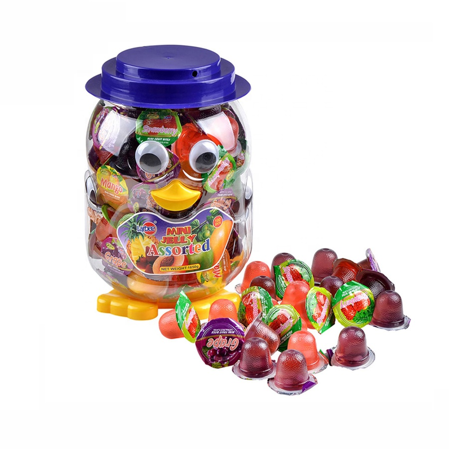 Saving Pot Jar Fruit Pudding Jelly & Pudding Type Assorted Flavours Mini Candied Fruit Jelly
