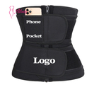 Women double layer waist trainer Custom waist trainer Sweat belt plus size