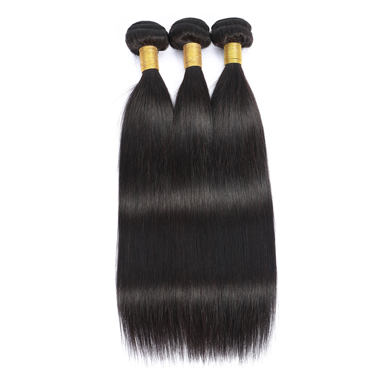 Top Quality Raw Unprocessed 8A 9A 10A Grade Brazilian Silky Straight Remy Human Hair Weft, Natural color