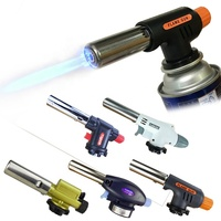 Gas torch lighter burner lighter jet flamethrower lighter house flame gun for BBQ Cooking tools