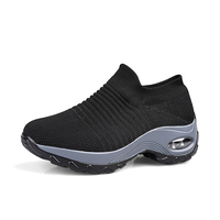 Women's walking athletic running shoes sock sport woman fashion sneakers mesh slip on air cushion lady platform loafers