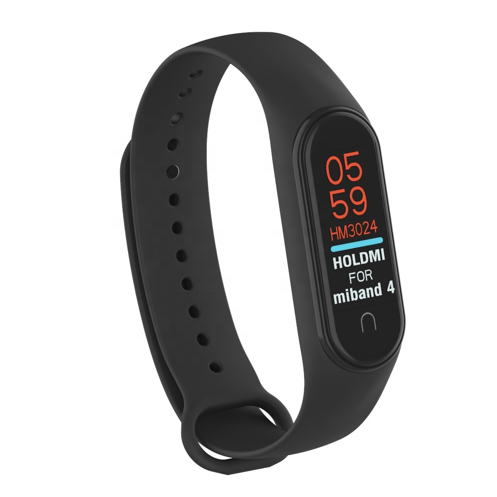HOLDMI ODM hot sale bottom price 430222 series black silicone watch strap compatible for mi bands