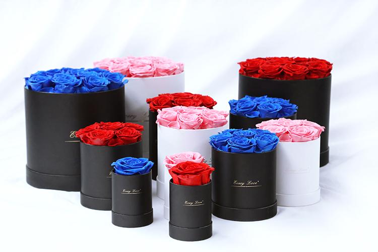 लंबे जीवन में संरक्षित अनन्त गुलाब अनन्त फूल दौर उपहार बॉक्स