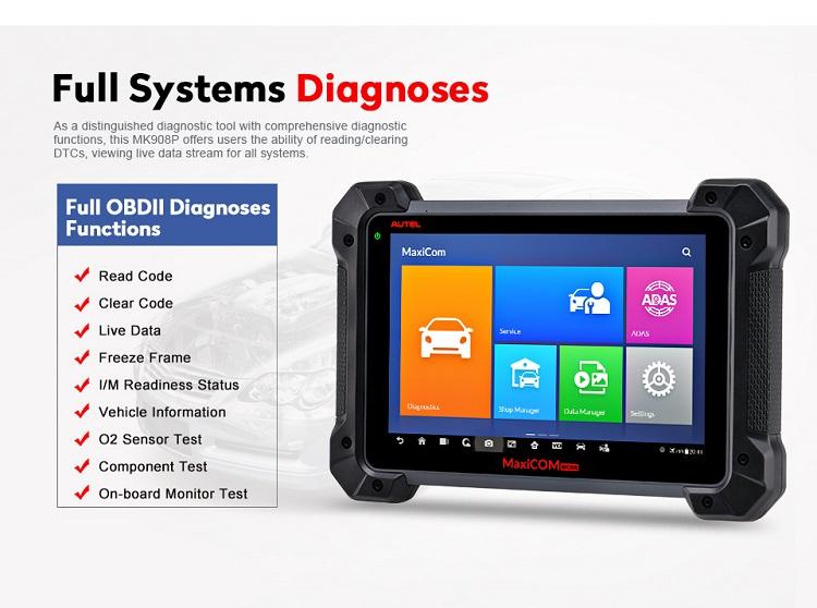 Ferramentas automotivas Autel MaxiCOM MK908Pro codificação do ECU e programação ECU ferramentas de programação de auto diagnóstico