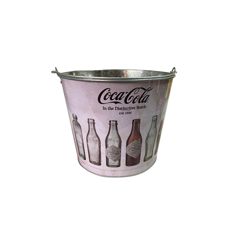 Galvanized antique buckets for beer