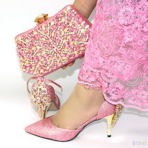 2018 African  ladies shoes and bags to match attend a wedding S180823