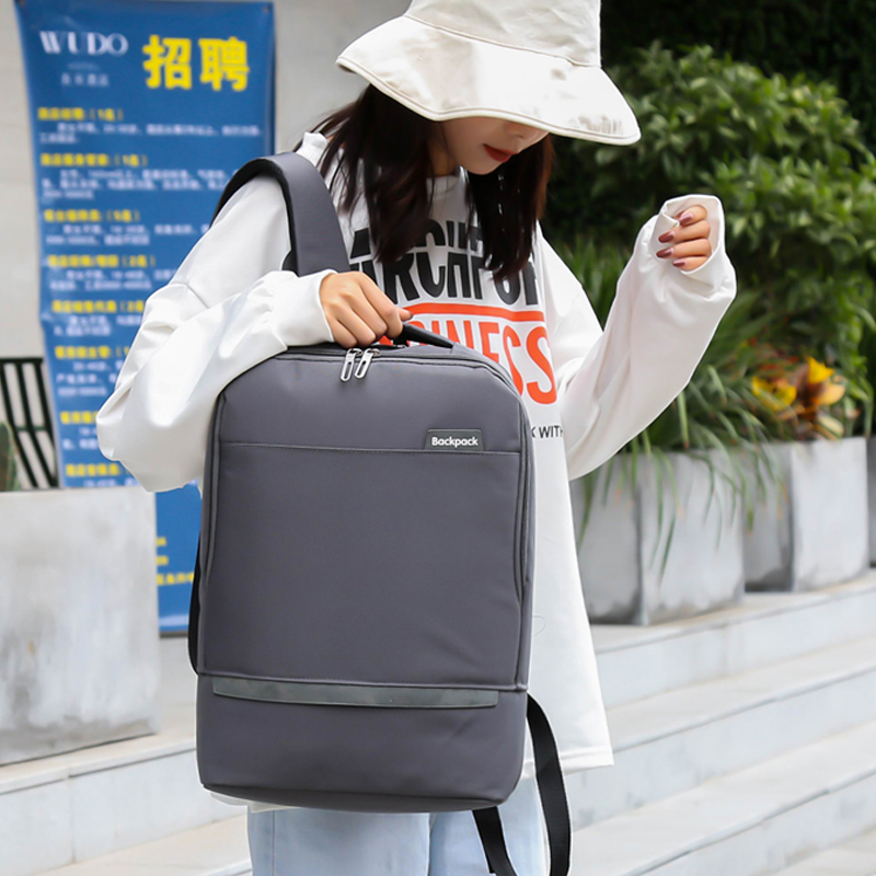 Accept Custom Logo 15.6 inch Notebook Back Pack Fashion Stylish Anti-theft Waterproof Backpack Bag