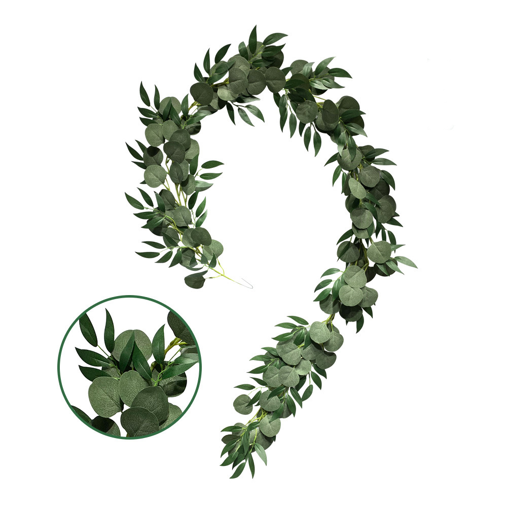 Wedding party decoration plants fences walls, garlands ivy <strong>leaves</strong> <strong>green</strong> <strong>artificial</strong> vines hanging <strong>leaves</strong> eucalyptus <strong>leaves</strong>
