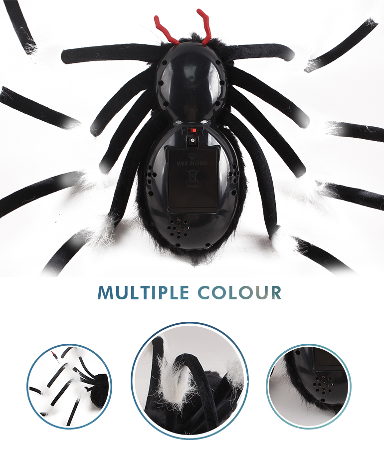 Halloween party flashing cheap voice control children funny animal toy spider