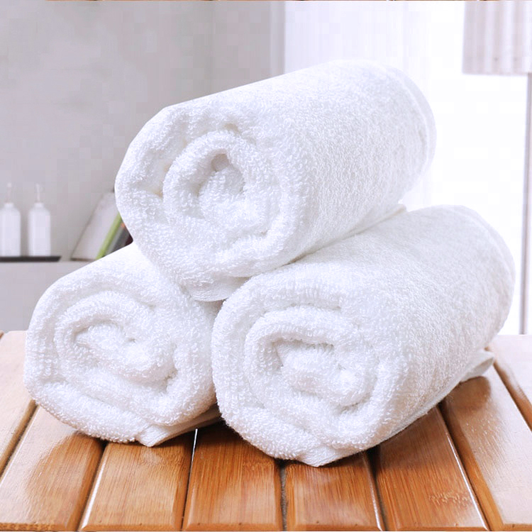 Luxury 16S 100% Cotton White Woven Hotel Face Cloth Hand Bath <strong>Towel</strong>