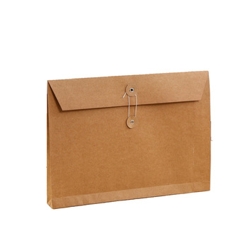 High Quality Wholesale Custom Size Kraft Paper Button String Envelopes
