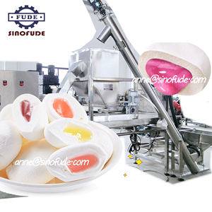 Fully automatic pouring extruding wire cutter candy floss marshmallow forming machine