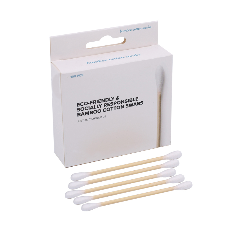 OEM Colorful stick cotton swab Daily cleaning bamboo cotton buds