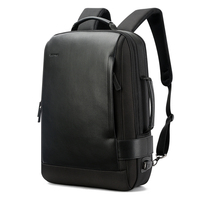 bopai luxury leather bags men expandable backpack mochila usb antitheft waterproof travel laptop backpack with water bottles