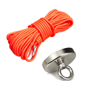 Hot Sale Low Moq Fishing Magnet D80MM pot magnet with Rope for Sale