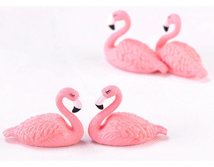 Garden DIY Decorative Miniature Terrarium Figurine lovely Flamingo Craft