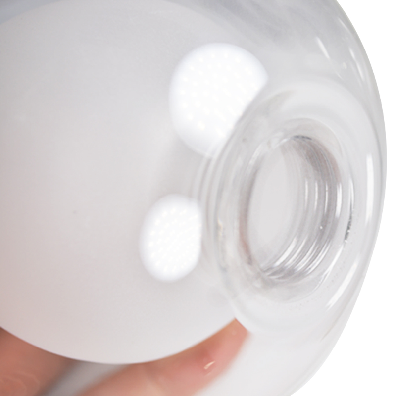 Double-walled Borosilicate Pyrex Glass Lamp Shade G9 Screws Glass Lampshades Globe Ball Lamp Glass Cover